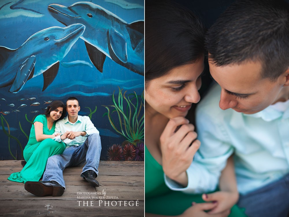 Victor & Denise = ENGAGED {santa monica, california engagement session}