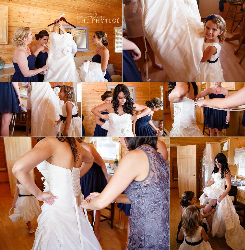 getting ready for the wedding, bridal party, shafter park place