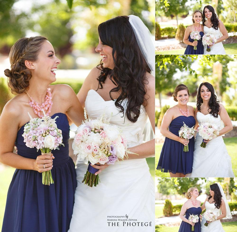 bride and bridesmaids, glaser wedding