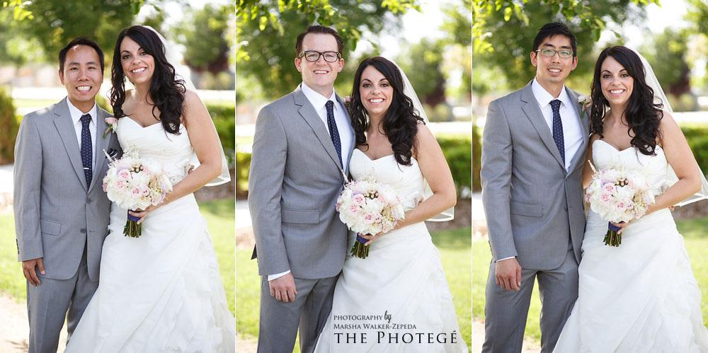 bride and groomsmen, shafter park place wedding