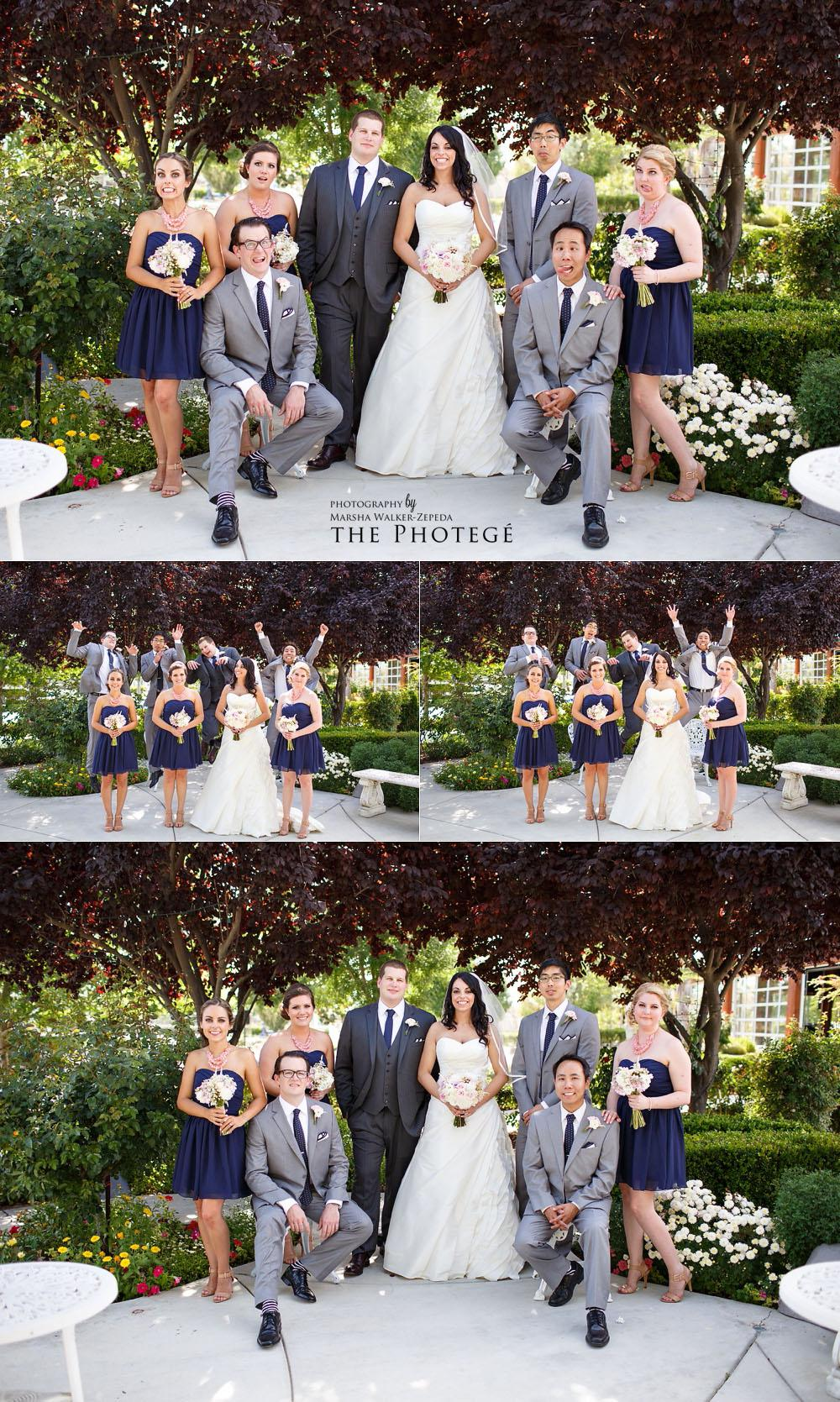 bridal party, shafter park place wedding