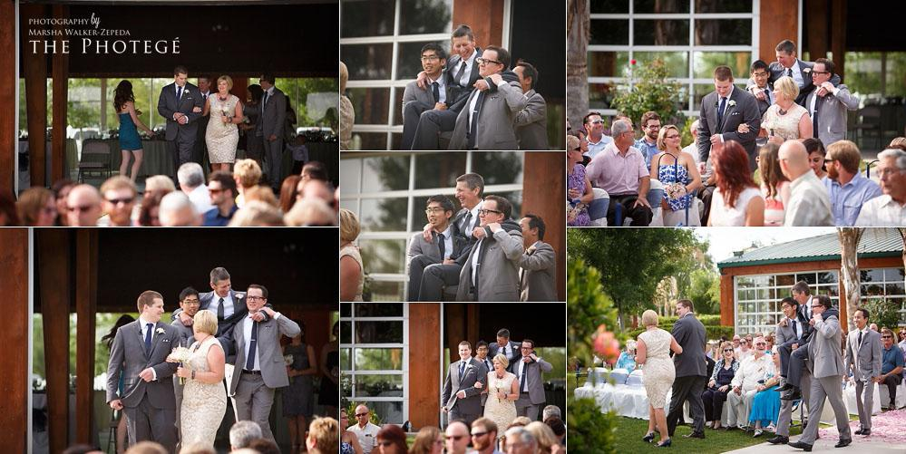 groomsmen carry father of the groom, shafter place wedding