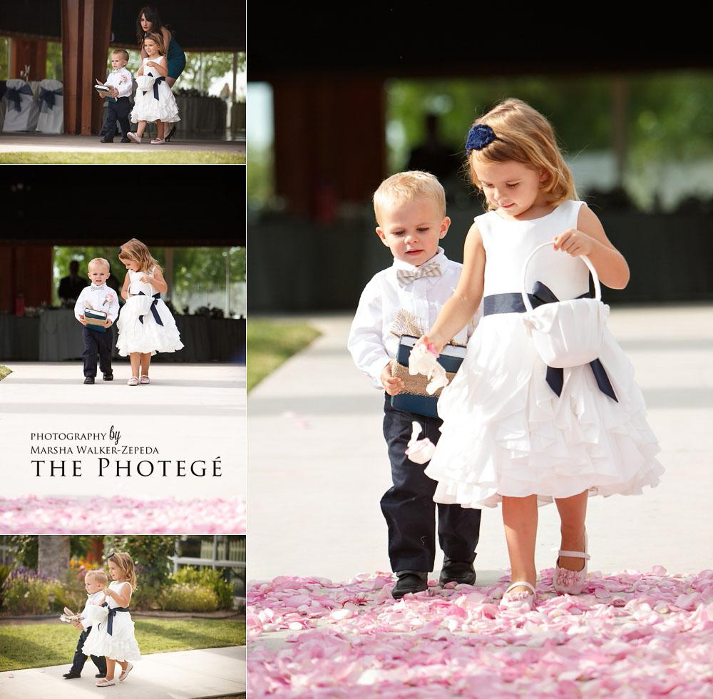 flower girl and ring bearer, shafter park place wedding