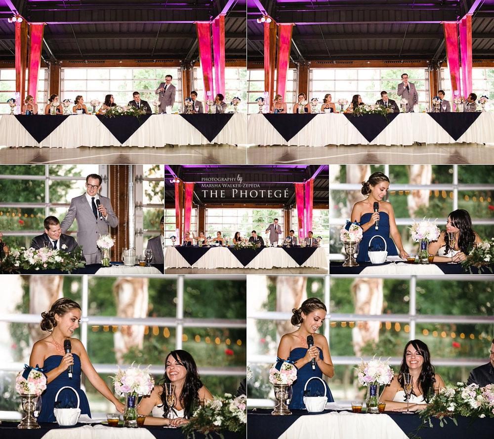 speeches and toast, glaser wedding
