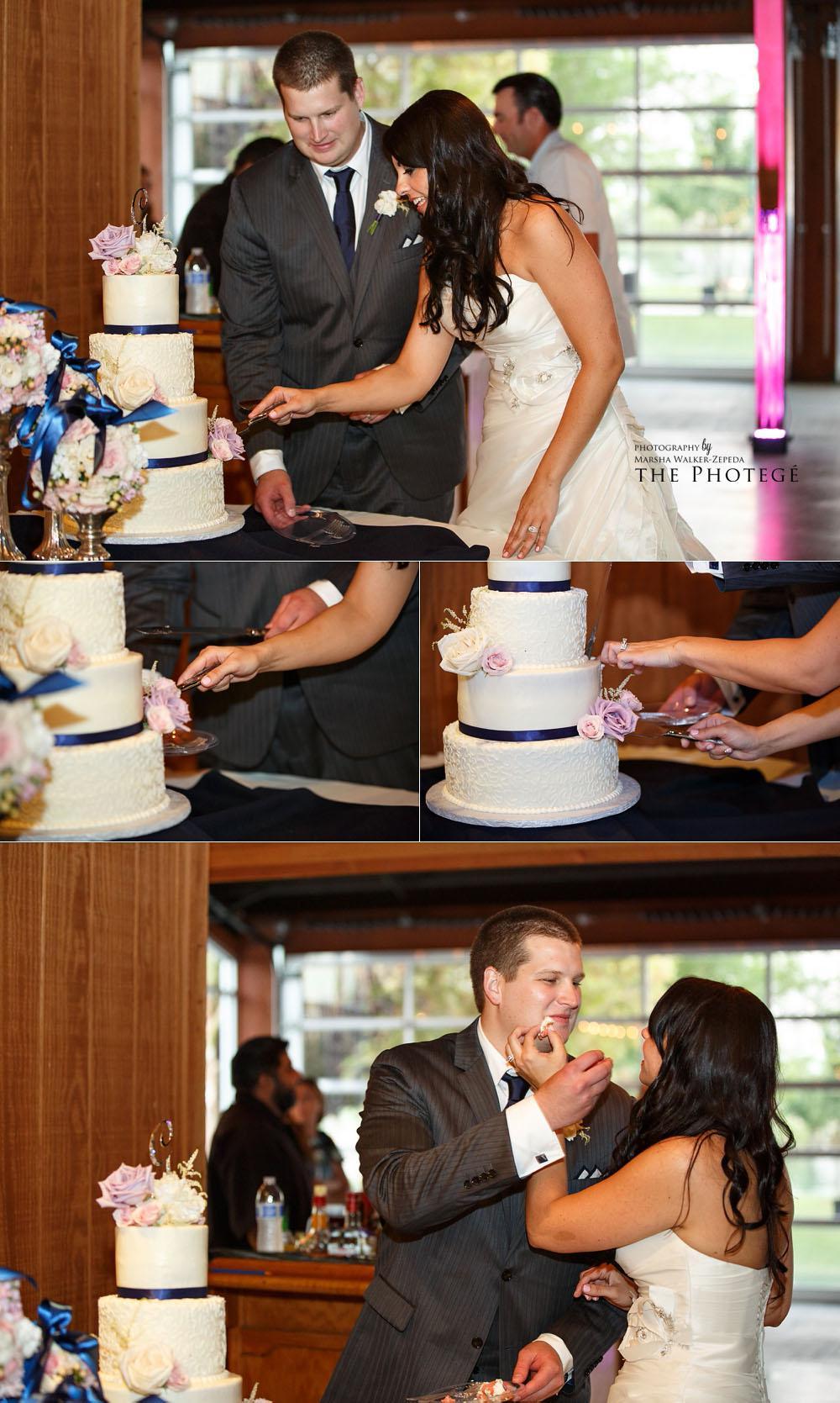 cake cutting, glaser wedding