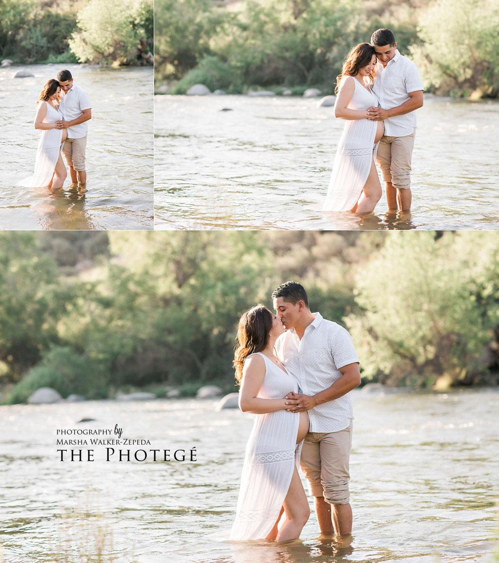 Beautiful Kern River maternity session