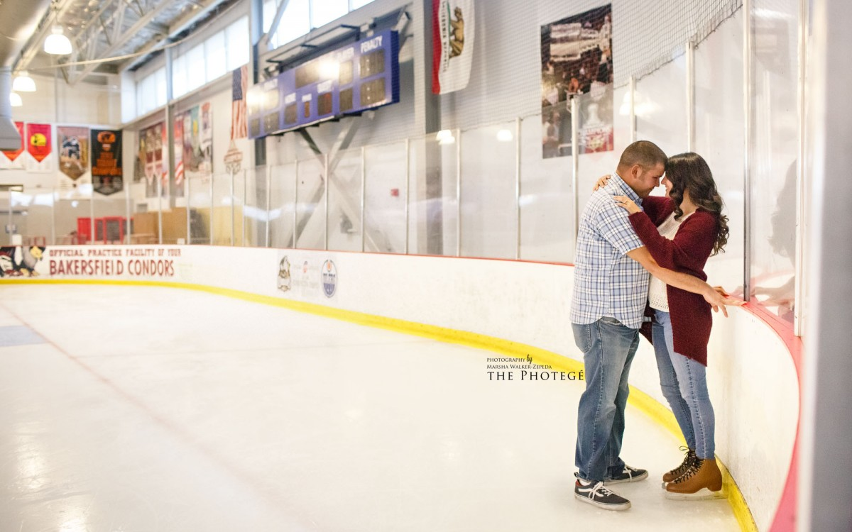 Kelci + Hunter = ENGAGED {ice rink, kern county museum, bakersfield, california engagement photography}