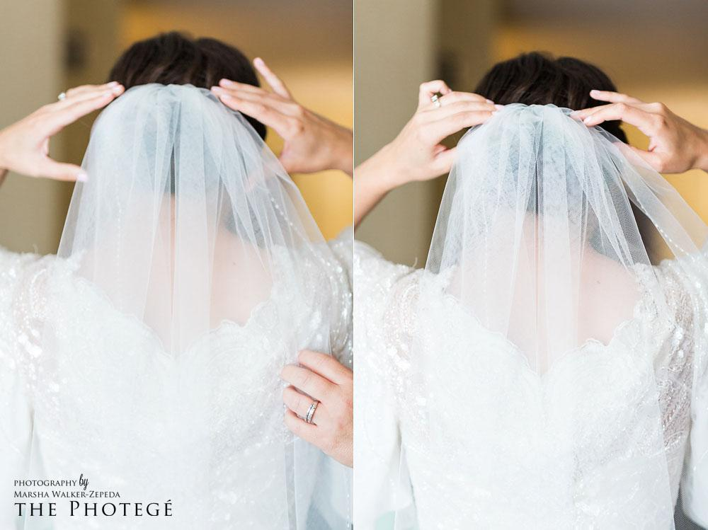 Bridal details, wedding veil