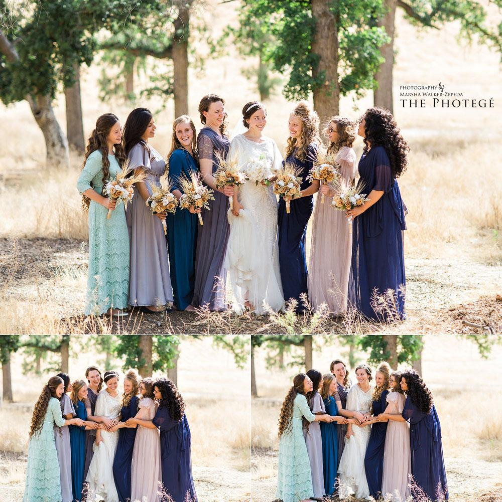 Dreamy rustic and organic wedding portraits