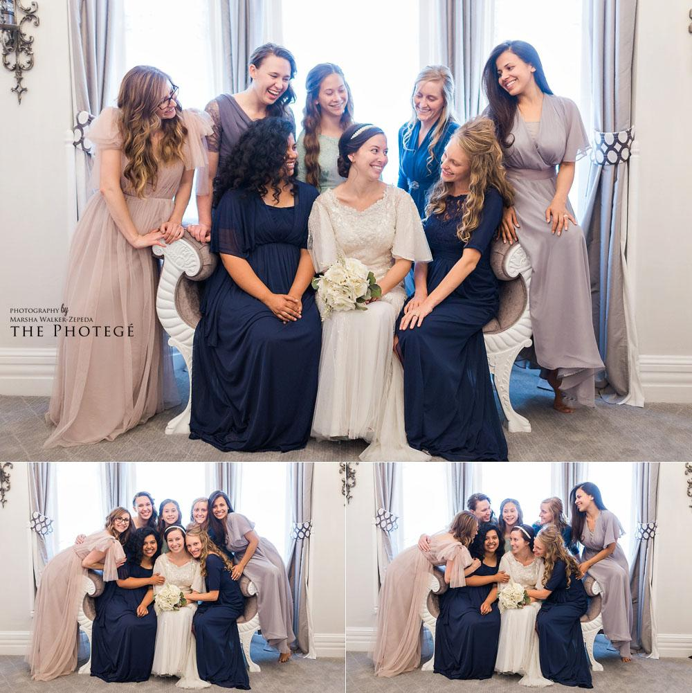 Noriega House Wedding, bridesmaids