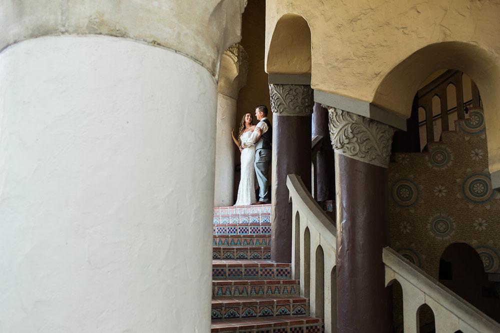 Intimate Santa Barbara Courthouse Wedding on the Rotunda Lawn by The Photege