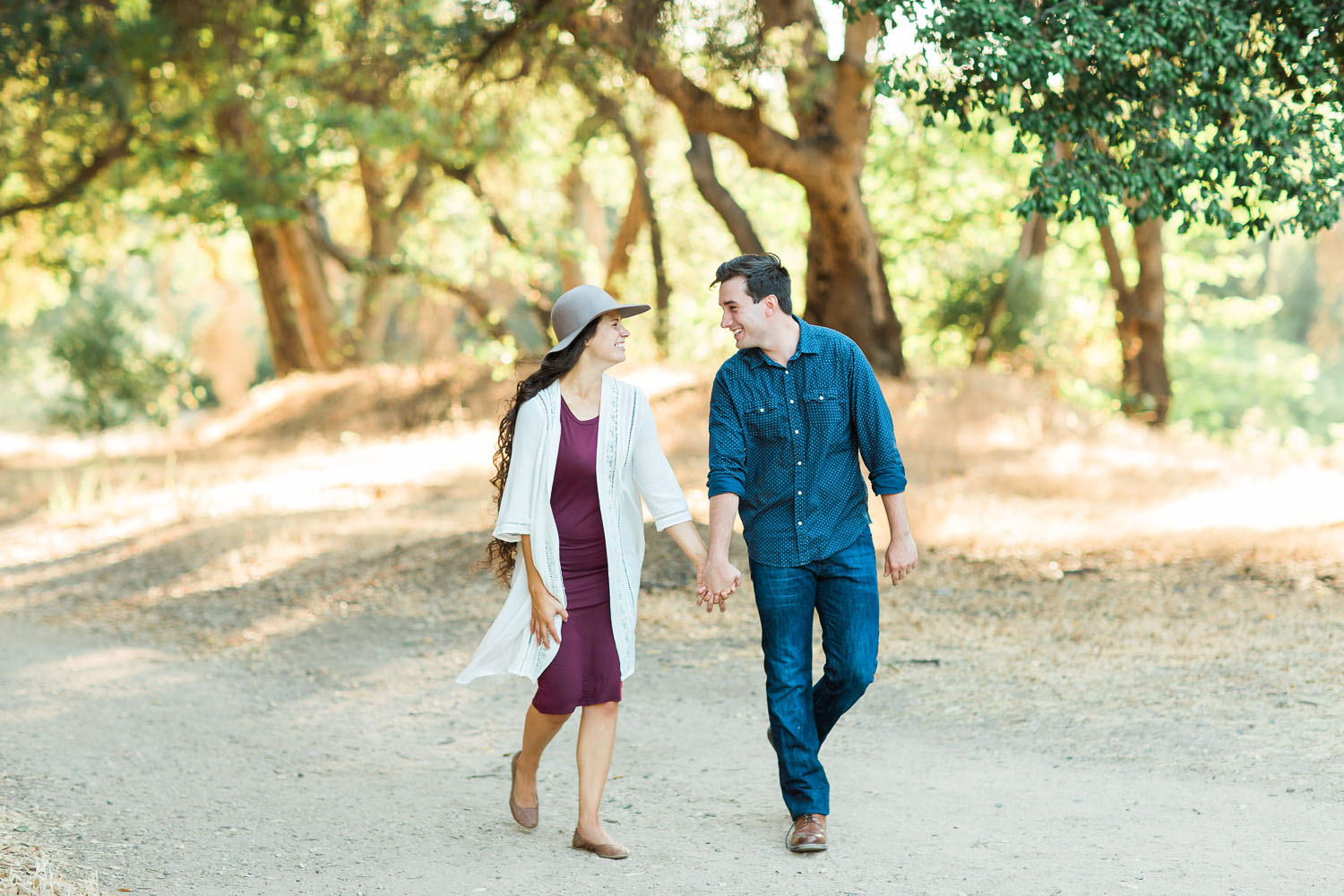 Brittany and Brett Engaged - Placerita Canyon Engagement Session Photography - How He Asked