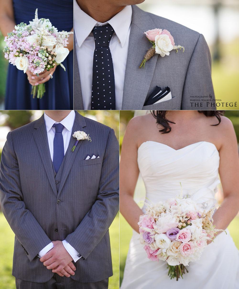 bridal party details, shafter park place wedding