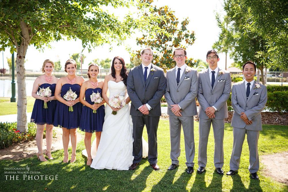 bridal party, glaser wedding, shafter park place