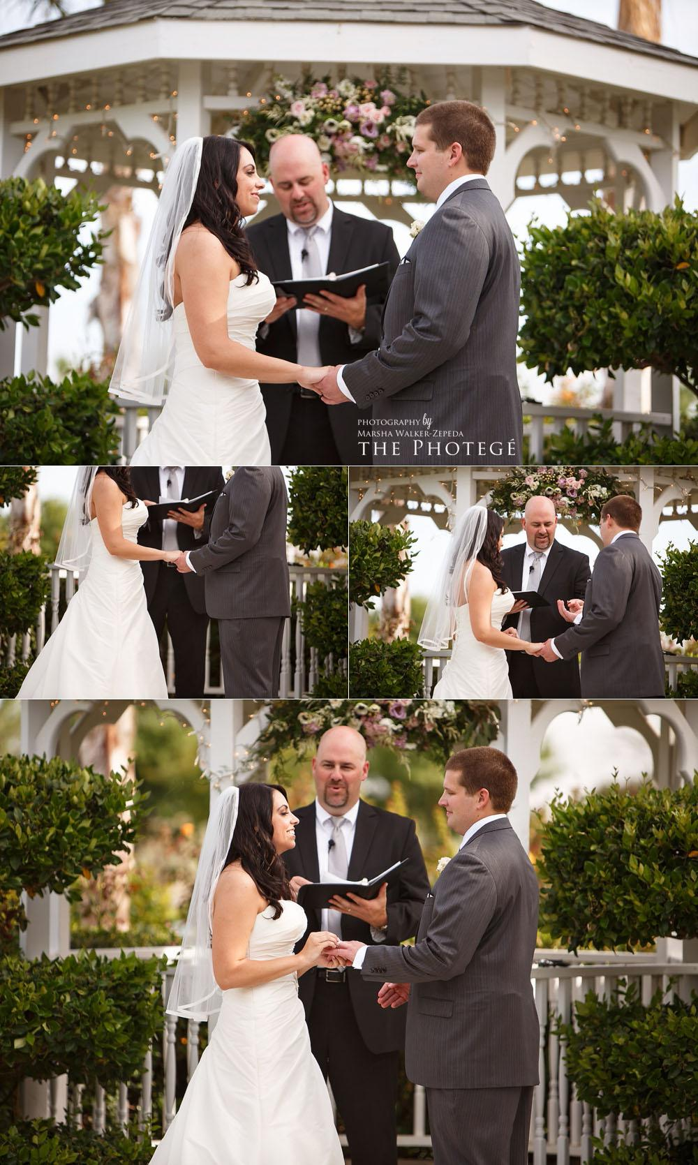 exchanging vows, shafter park place wedding