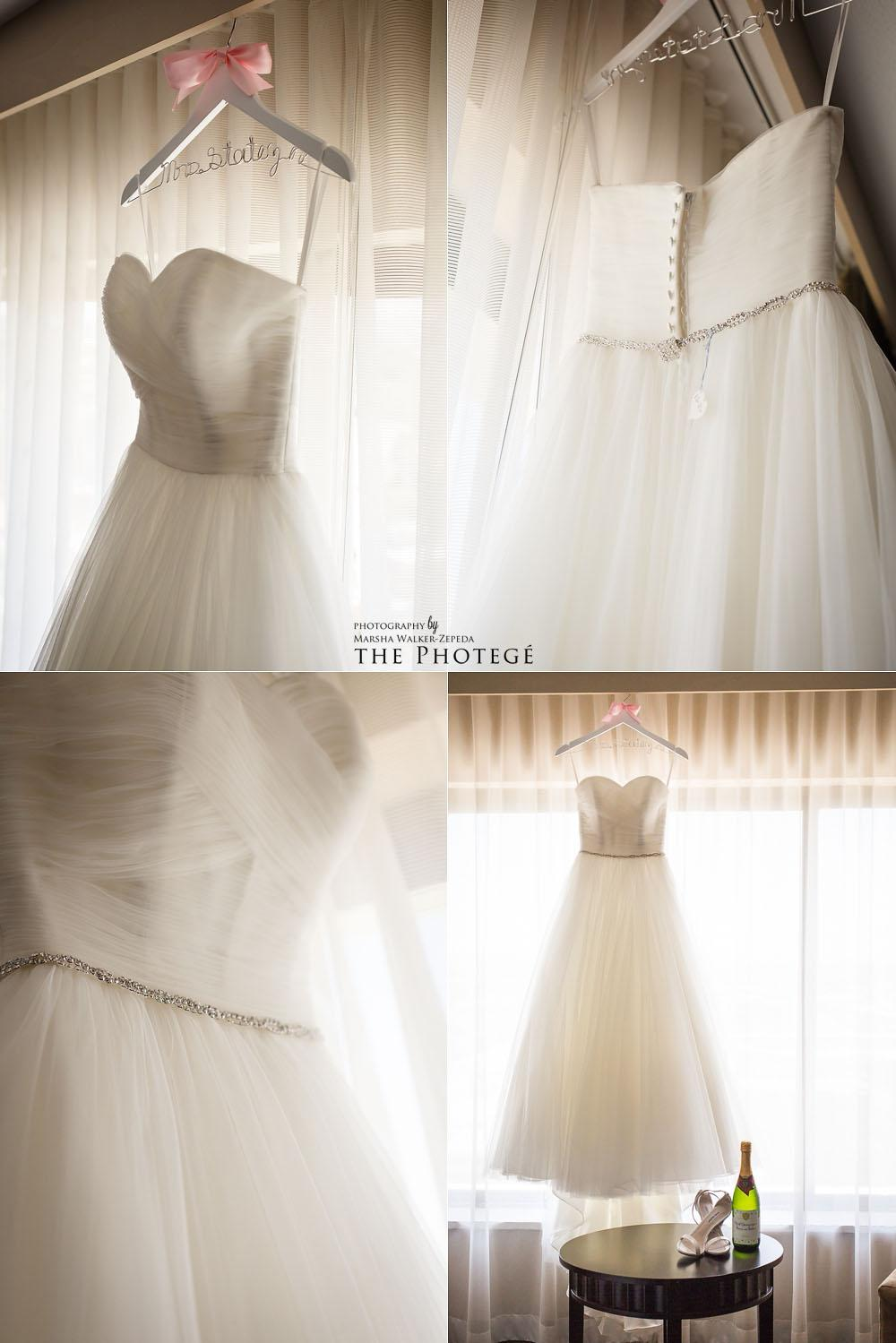 wedding dress, costa mesa wedding, westin south coast plaza