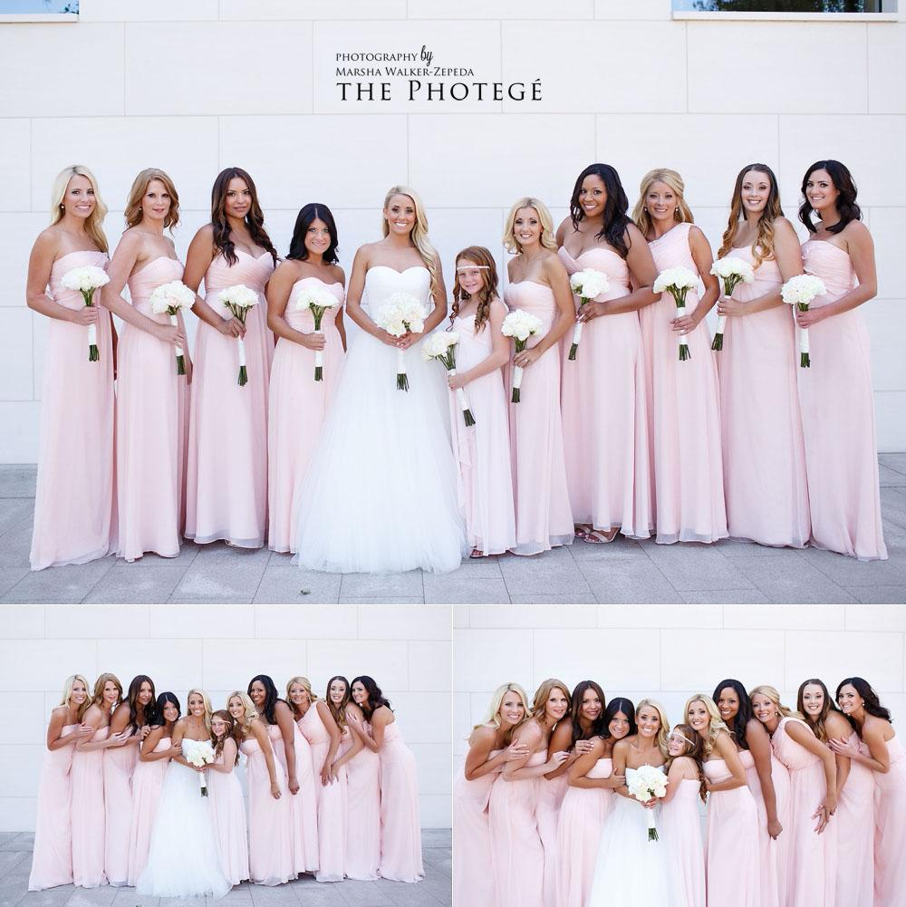 bridal party, costa mesa wedding
