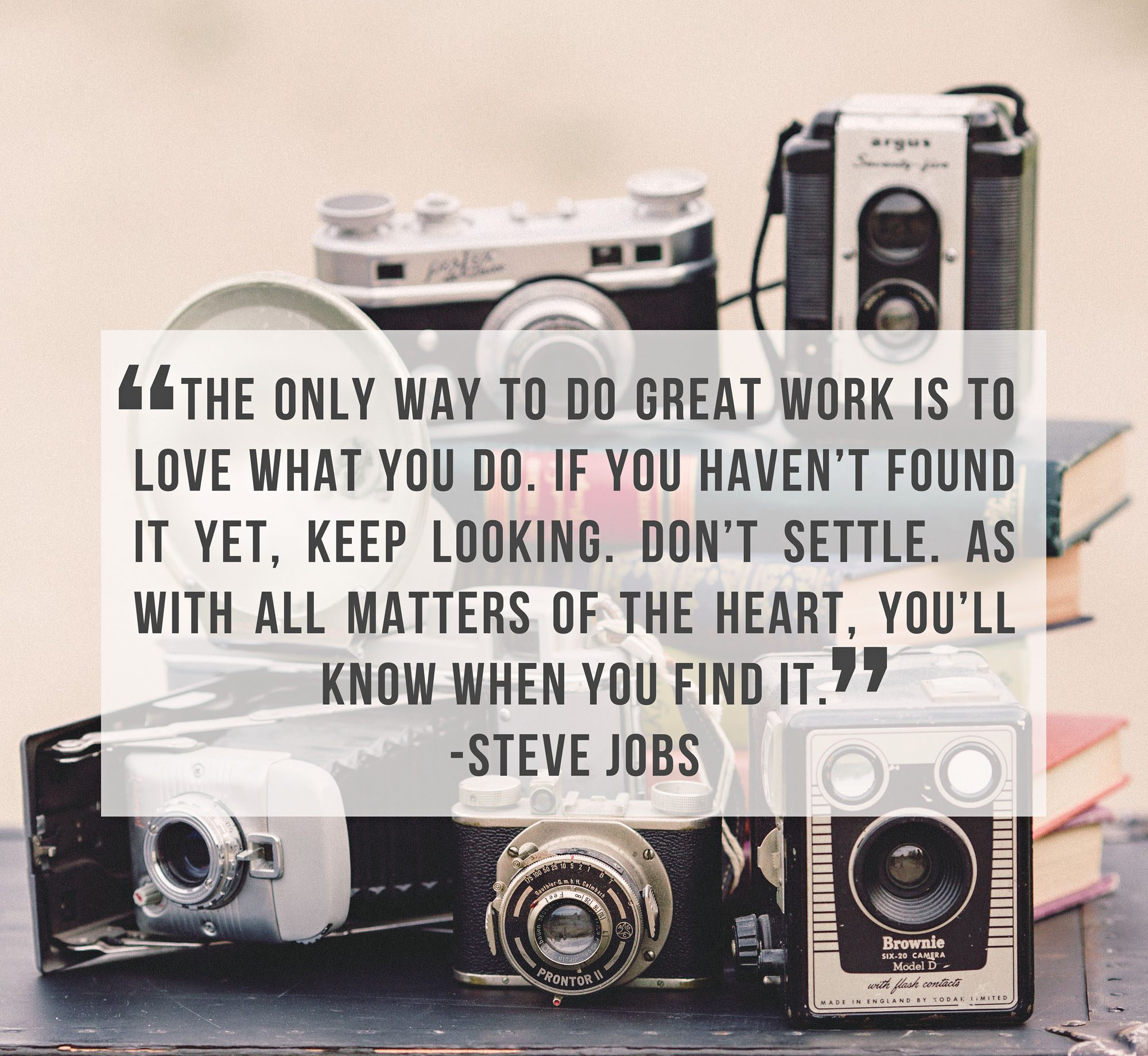 steve job, pursue your dreams, never give up