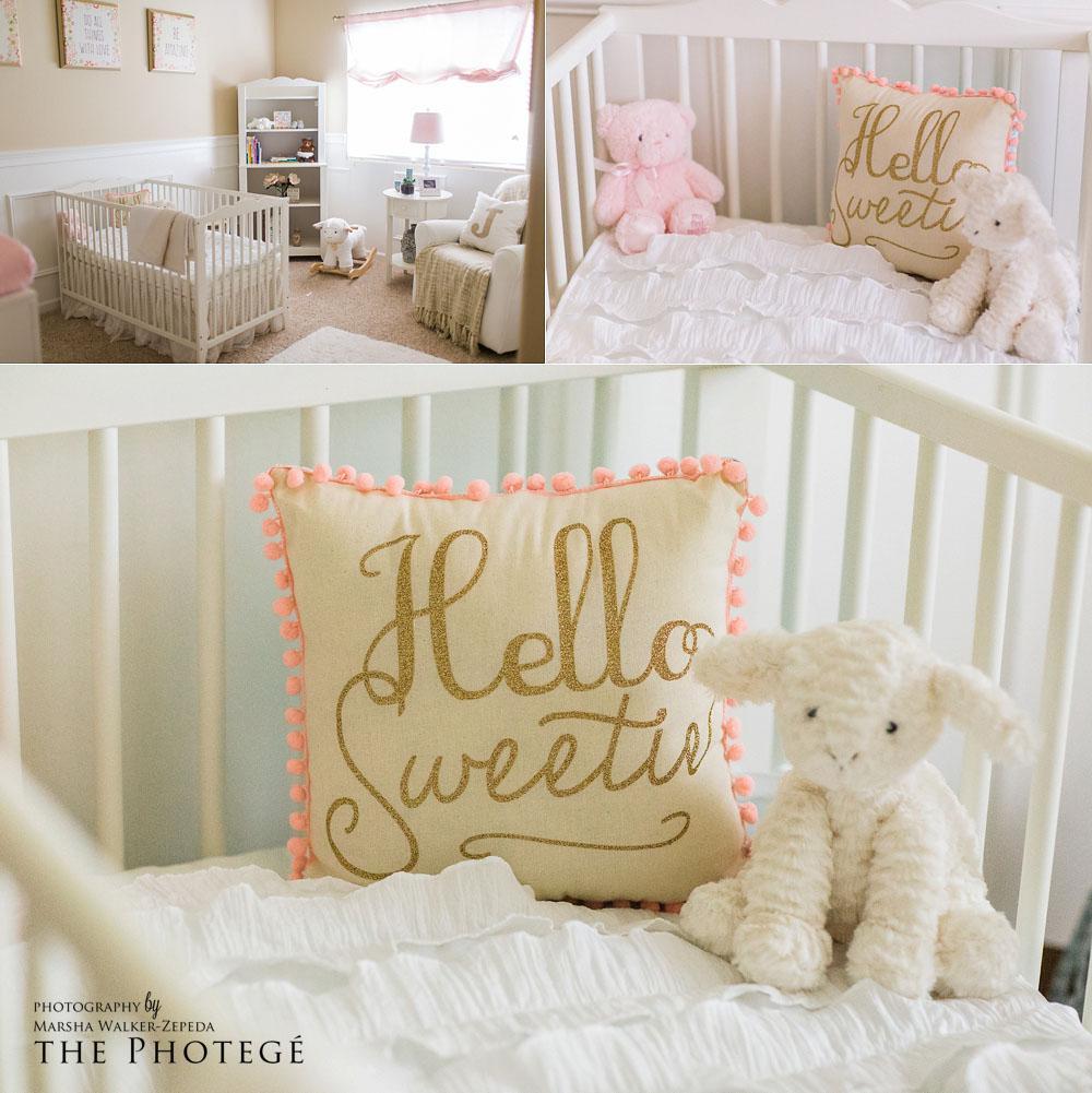 Baby girl, lamb nursery