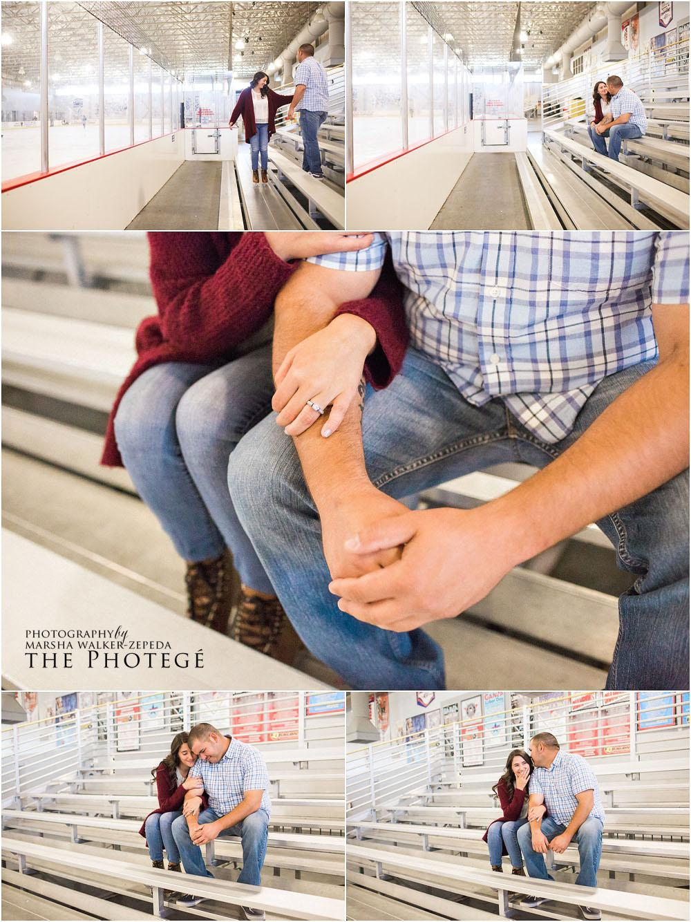 ice rink, kern county museum engagement