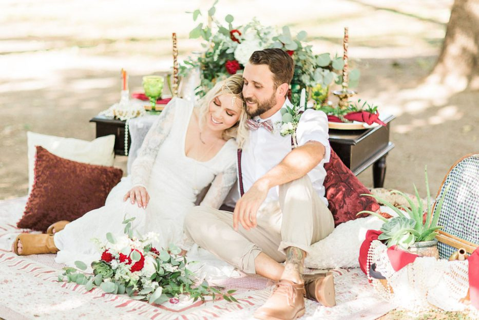 boho garden surprise wedding proposal with The Photege and Simply Shabby Chic Events