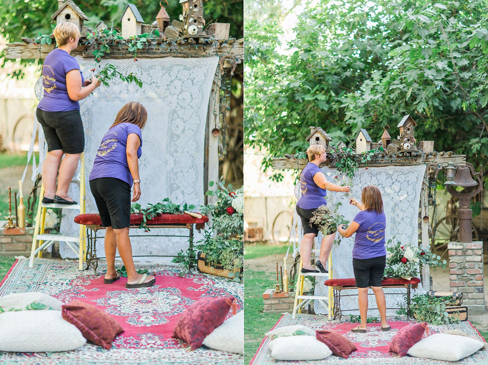 boho garden surprise proposal editorial photoshoot with The Photege and Simply Shabby Chic Events