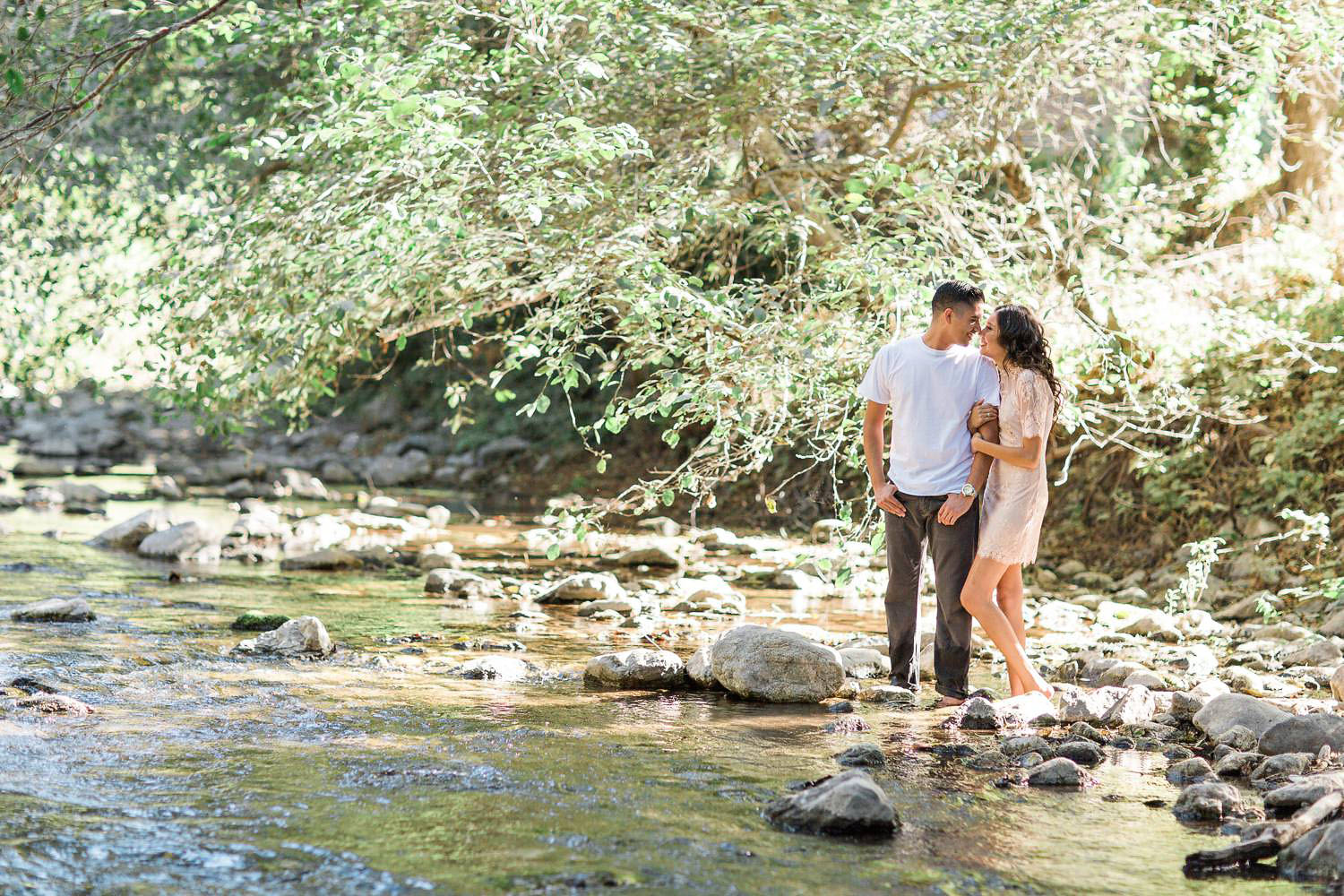 kissing in the big sur river
