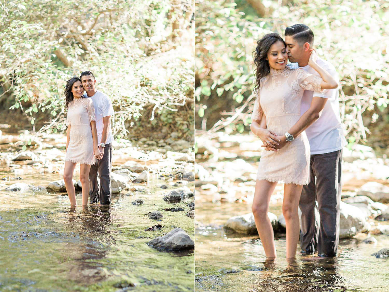 big sur river engagement session