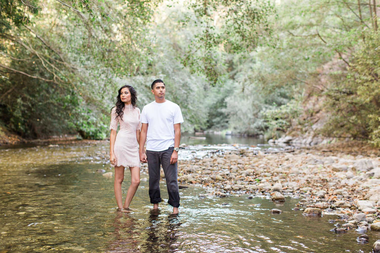 romantic big sur engagement session
