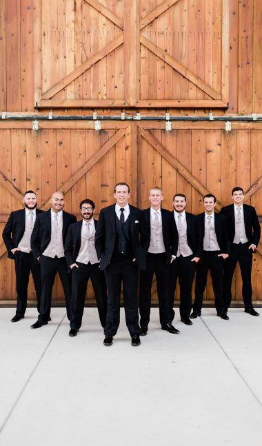 groomsmen at grace barn in fowler ca