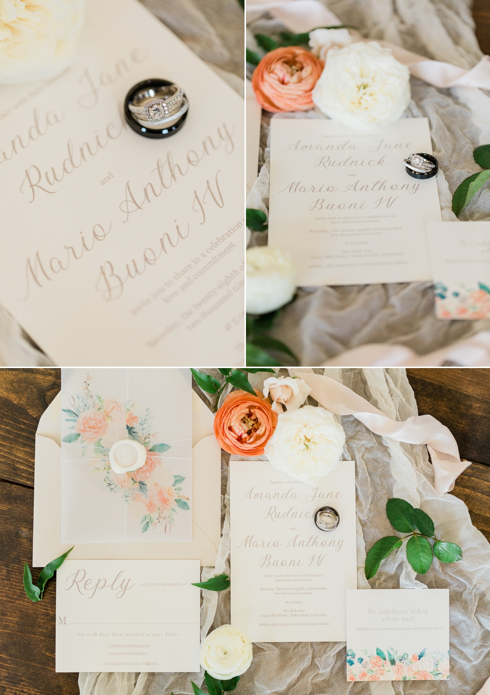 the belle are, wedding stationery, matinae design