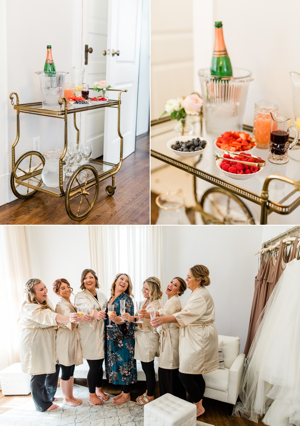 the belle are bridal suite, mimosa bar, bride getting ready, bride details, bridal party, bridesmaids