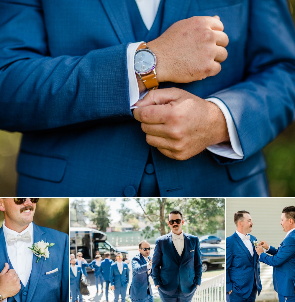 groom details, groomsmen, wedding party