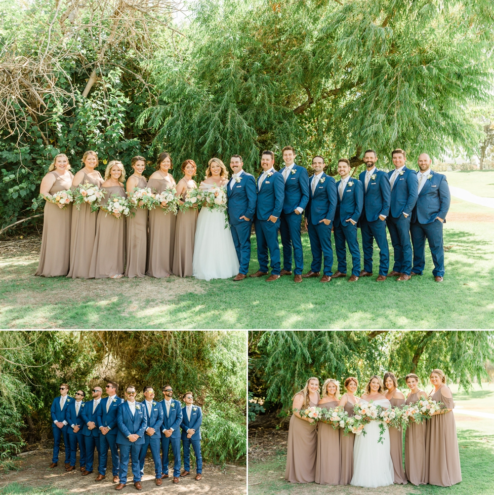 romantic wedding portraits, golden hour portraits, bride and groom portraits, bridal party, wedding party