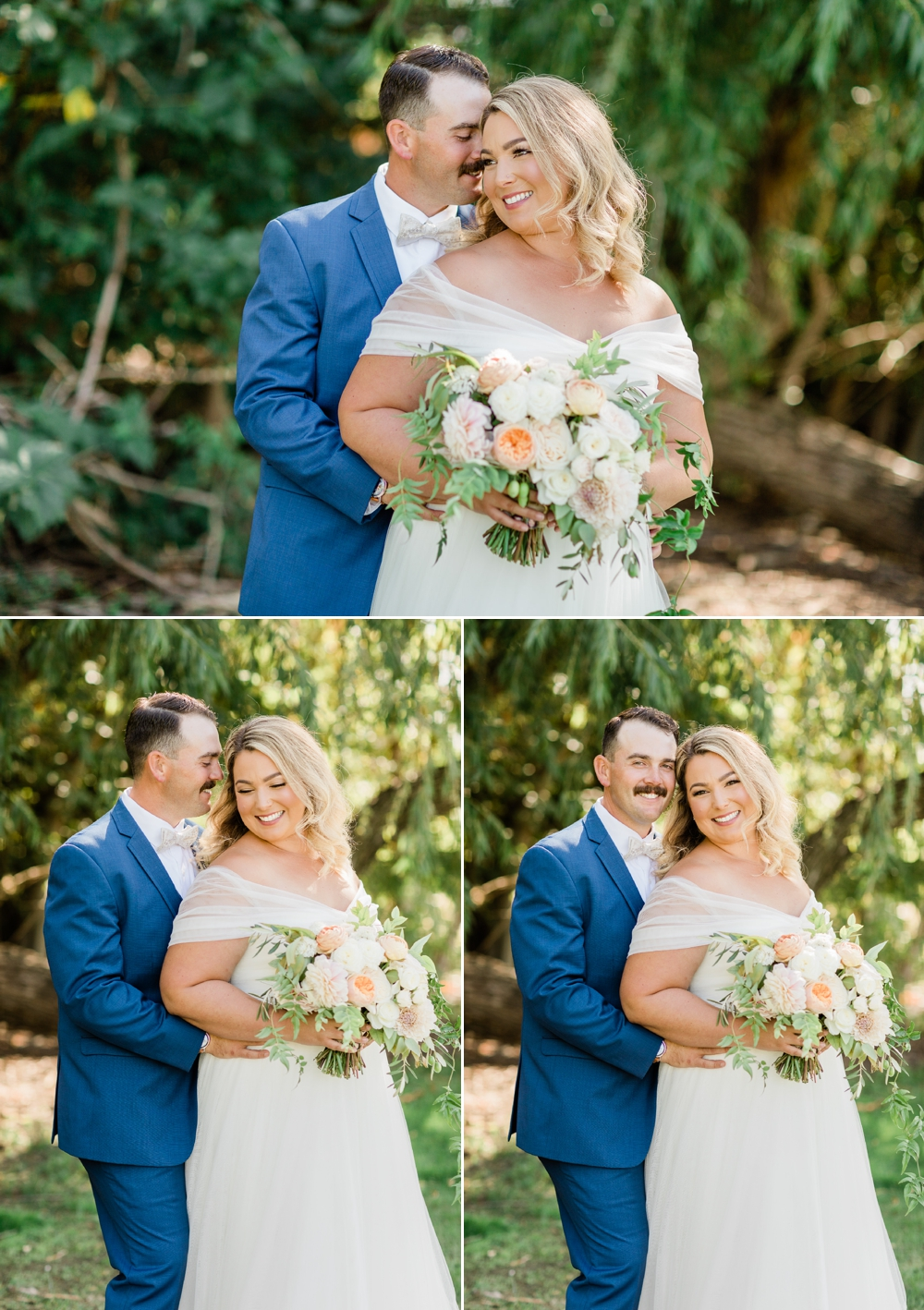 romantic wedding portraits, golden hour portraits, bride and groom portraits