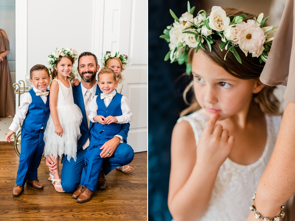 flower girls, ring bearers, wedding party