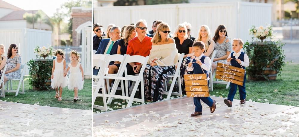 flower girls, ring bearers, the belle rae wedding