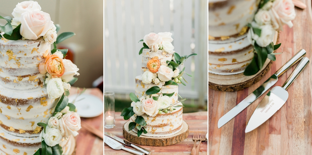 wedding cake, naked cake, neutral cake