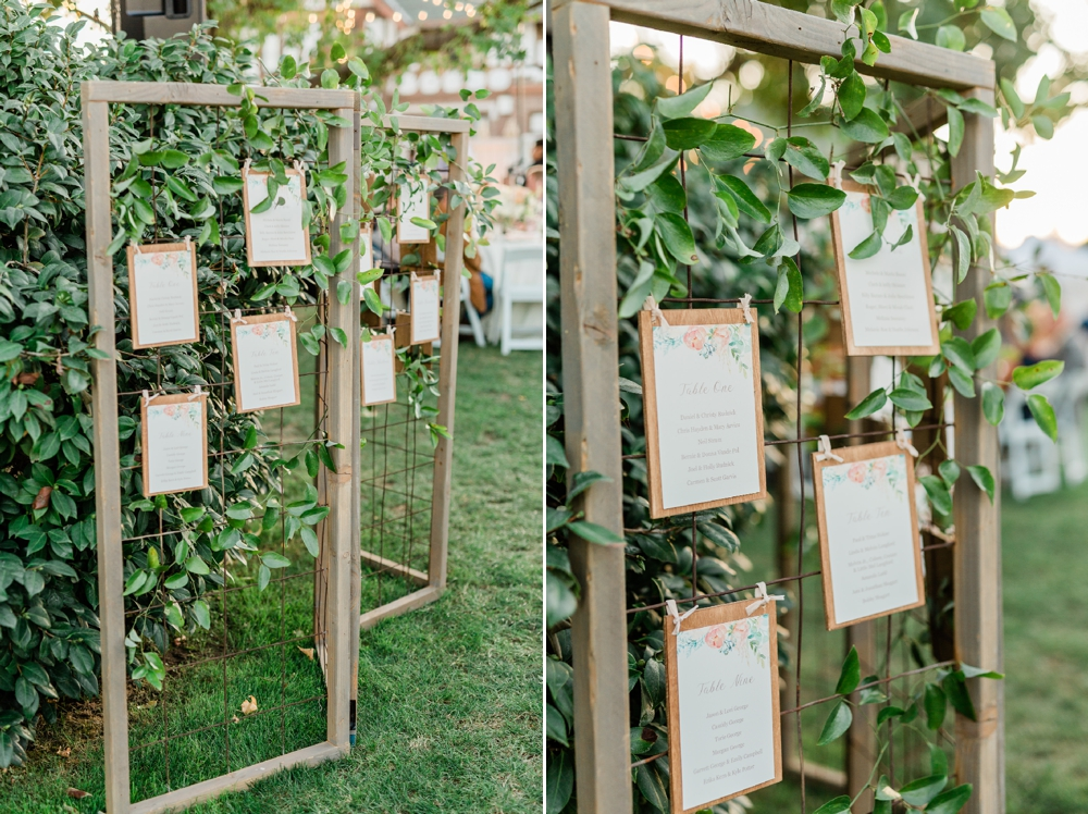 wedding table sign, table assignment, wedding inspiration