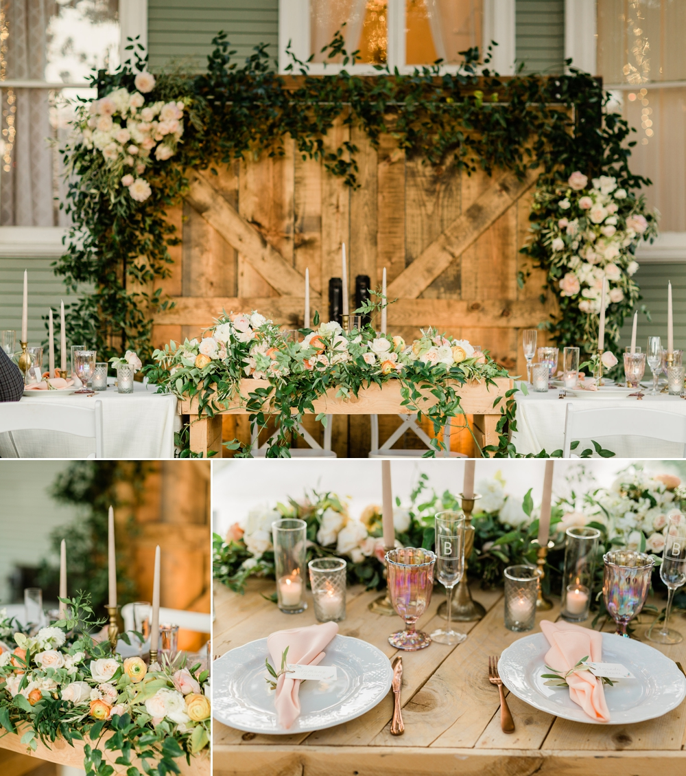 rustic wedding decor, neutral wedding decor, the belle rae wedding reception