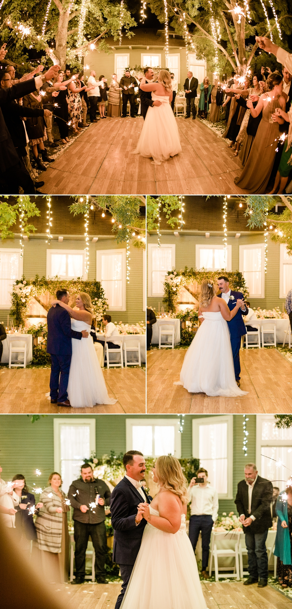 wedding reception, romantic first dance