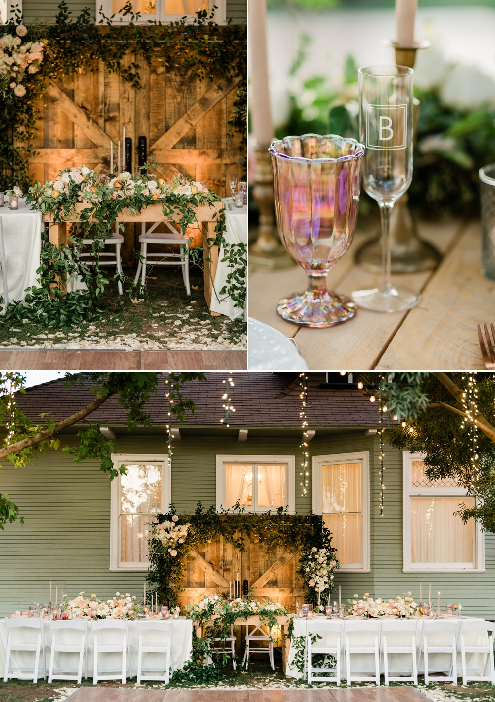 the belle rae wedding reception, neutral wedding decor, rustic wedding decor