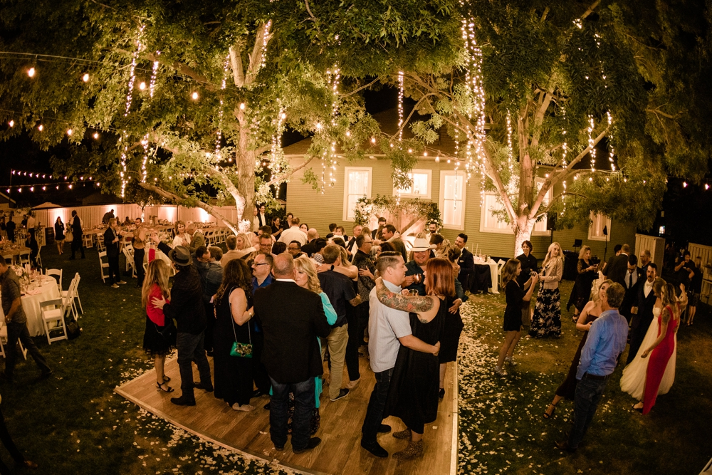 Wedding reception, night photography, romantic wedding reception