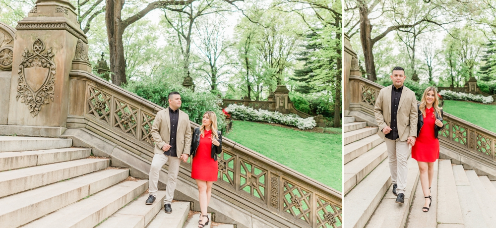 city chic central park engagement session