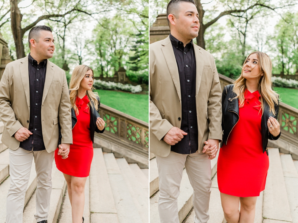city chic nyc central park engagement session