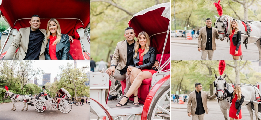 romantic carriage ride in central park in nyc