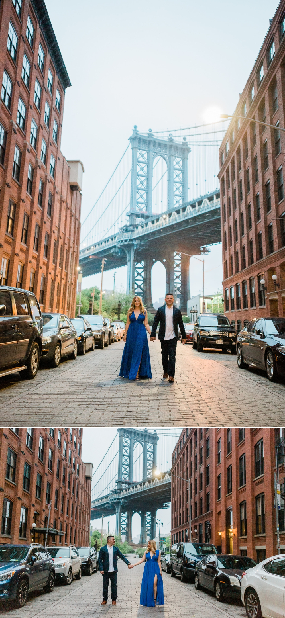DUMBO brooklyn engagement session