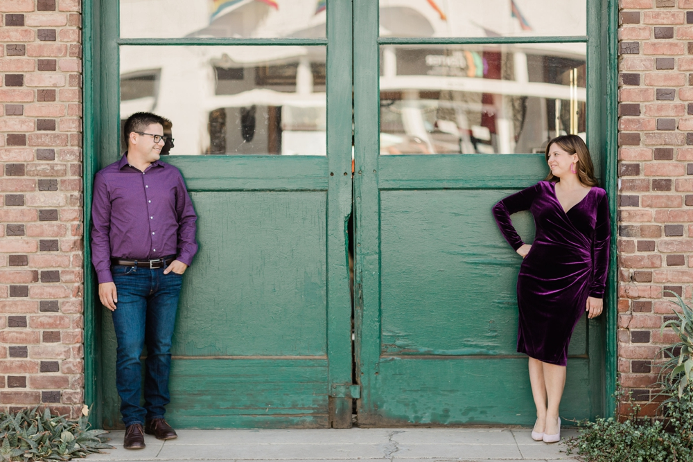 downtown bakersfield engagement session