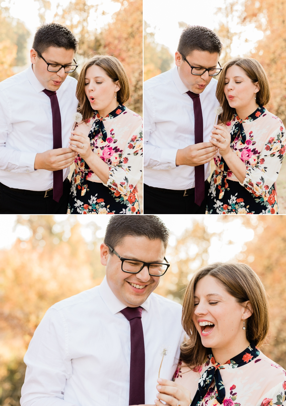 hart park bakersfield engagement session, blowing wishes, chocolate diamond ring