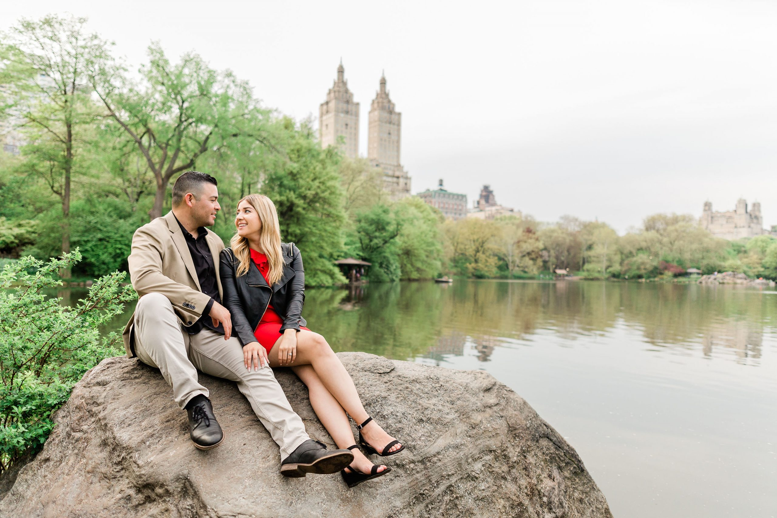 belvedere castle new york city central park engagement session